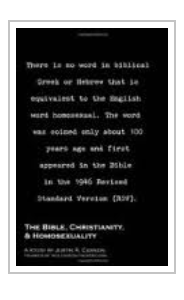 The Bible, Christianity & Homosexuality